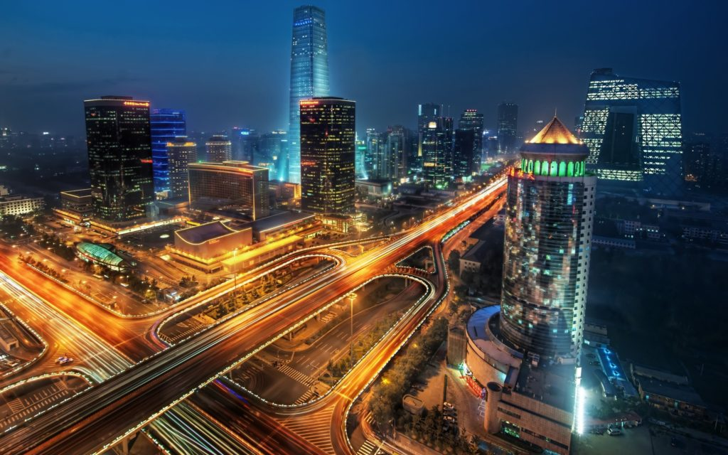 City Lights Colorful Photography China Skyscrapers Streets Night Road Beijing Sky Colors Bridge Trees Skyline Architecture Houses Beauty Beautiful Buildings View Cars Image Gallery